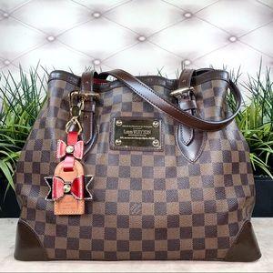 Authentic Louis Vuitton Hampstead MM Damier Ebene